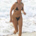 Laura May Gibbs in a Black Bikini on the Beach in Byron Bay 03/10/2021