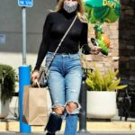 Malin Akerman in a Blue Ripped Jeans Was Seen Out in Los Angeles 03/17/2021