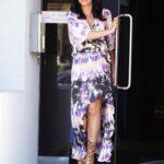 Mia St. John in a Tie Dye Dress Leaves JAM Studios in North Hollywood 03/06/2021