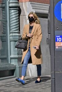 Nicky Hilton in a Tan Coat