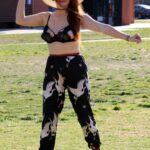 Phoebe Price in a White Hat Was Spotted at the Tennis Court at the Park in Los Angeles 03/04/2021
