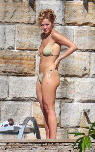Rita Ora in an Olive Bikini