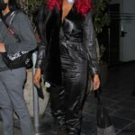 Taraji P. Henson in a Black Ensemble Arrives at the Highlight Room in Hollywood 03/14/2021