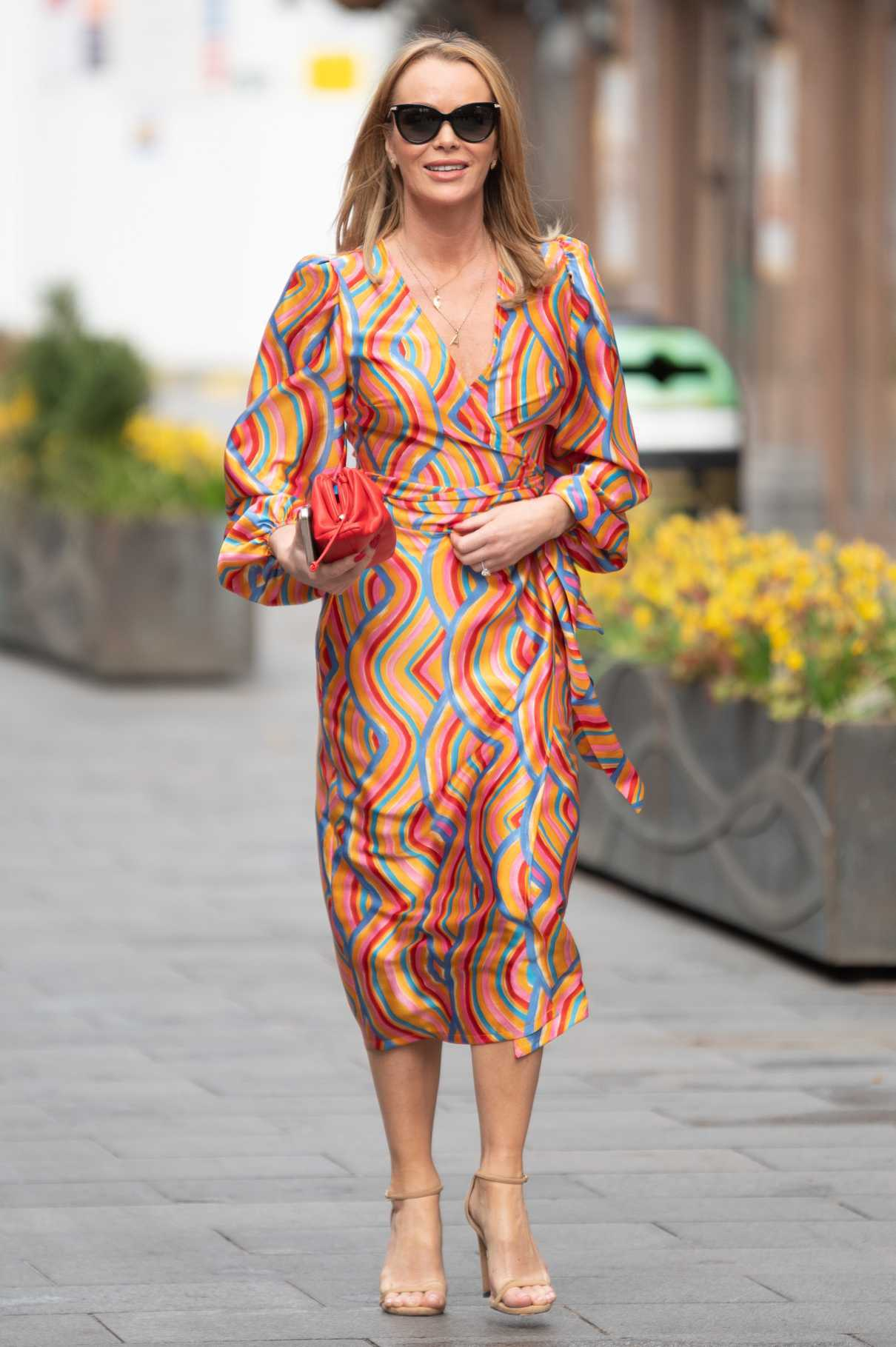 Amanda Holden in a Colorful Dress