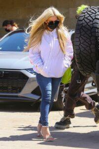 Avril Lavigne in a White Hoodie