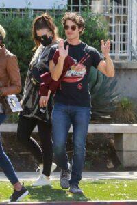 Darren Criss in a Black Tee