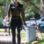 Devon Windsor in a Black Leggings Walks Her Dog in Coral Gables 04/06/2021