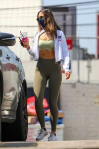 Eiza Gonzalez in an Olive Leggings