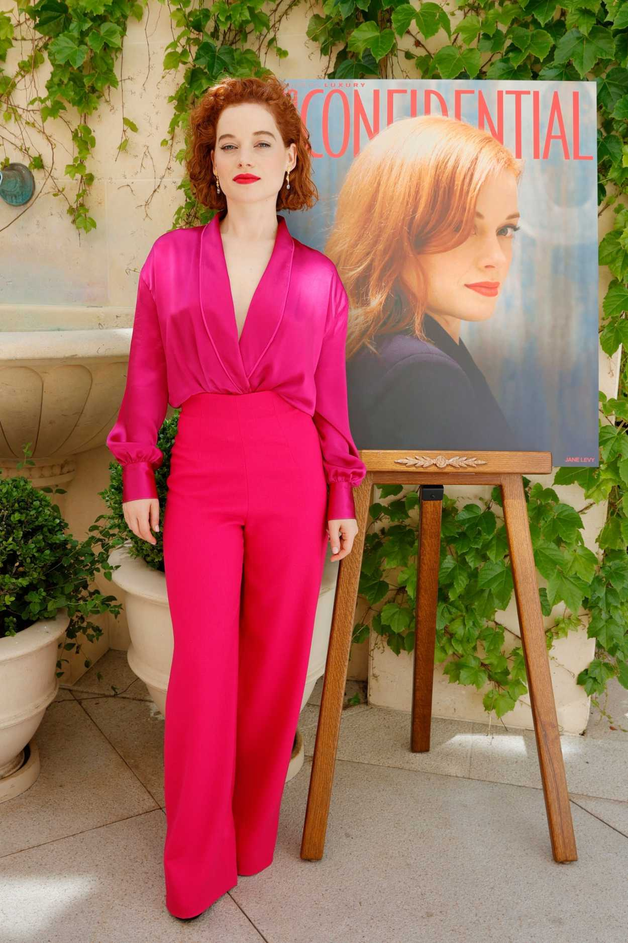 Jane Levy in a Pink Outfit