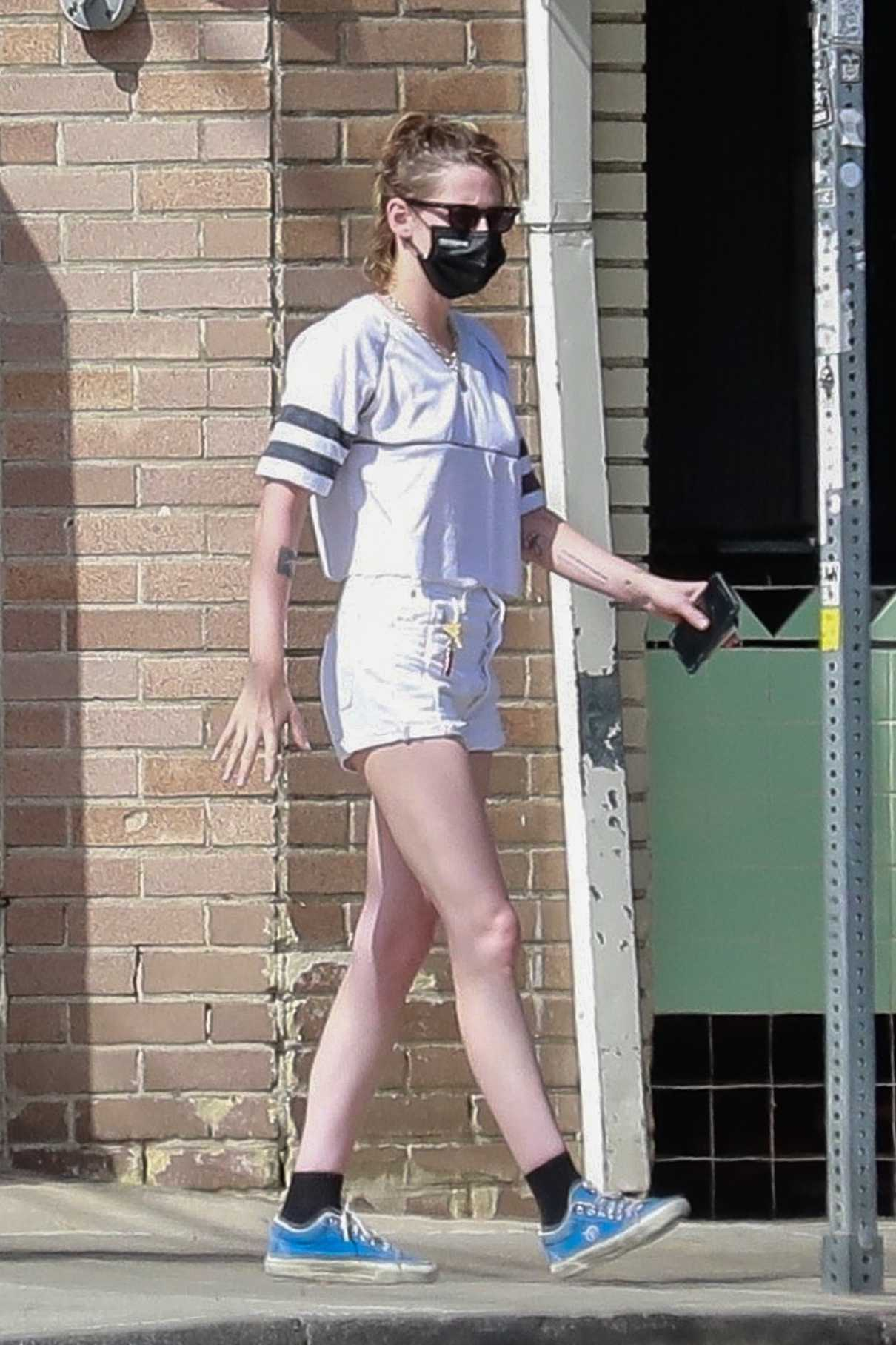 Kristen Stewart in a White Shorts