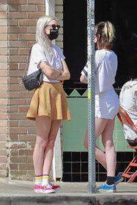 Kristen Stewart in a White Shorts