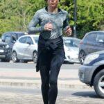 Melanie Chisholm in a Black Leggings Goes on a Morning Jog in London 04/19/2021