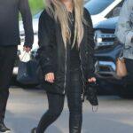 Avril Lavigne in a Black Jacket Leaves Dinner at Nobu in Malibu 05/03/2021