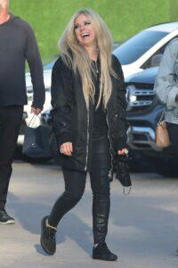 Avril Lavigne in a Black Jacket