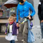 Bradley Cooper in a Black Cap Goes Shopping with Her Daughter in the West Village, NYC 05/05/2021