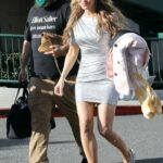 Chrishell Stause in a Silver Mini Dress Was Seen Out in West Hollywood 05/21/2021