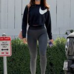 Eiza Gonzalez in a Black Sweatshirt Was Seen Out in West Hollywood 05/14/2021