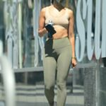 Eiza Gonzalez in an Olive Leggings Leaves the Gym in West Hollywood 05/11/2021