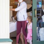 Gal Gadot in a White Track Jacket Out with Her Daughter Goes Shopping in Studio City 05/11/2021