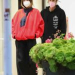Hailey Bieber in a Red Sweatshirt Was Seen Out with Justin Bieber in West Hollywood 05/13/2021