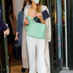 Jessica Alba in a Beige Trench Coat Leaves Her Hotel in New York 05/06/2021