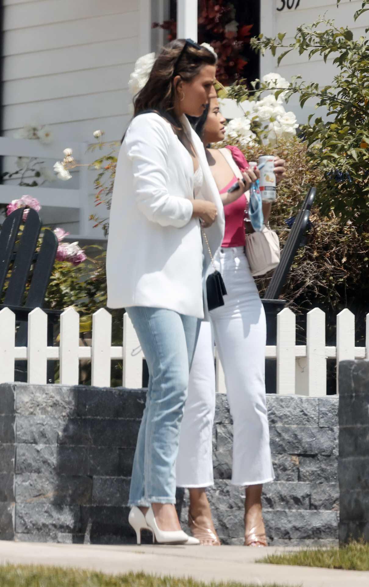Katie Thurston in a White Blazer