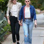 Kristen Stewart in a Blue Jacket Was Seen Out with Dylan Meyer in Los Angeles 05/11/2021