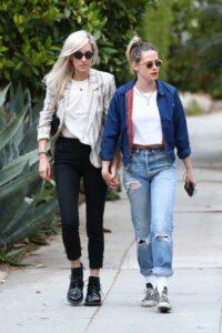 Kristen Stewart in a Blue Jacket