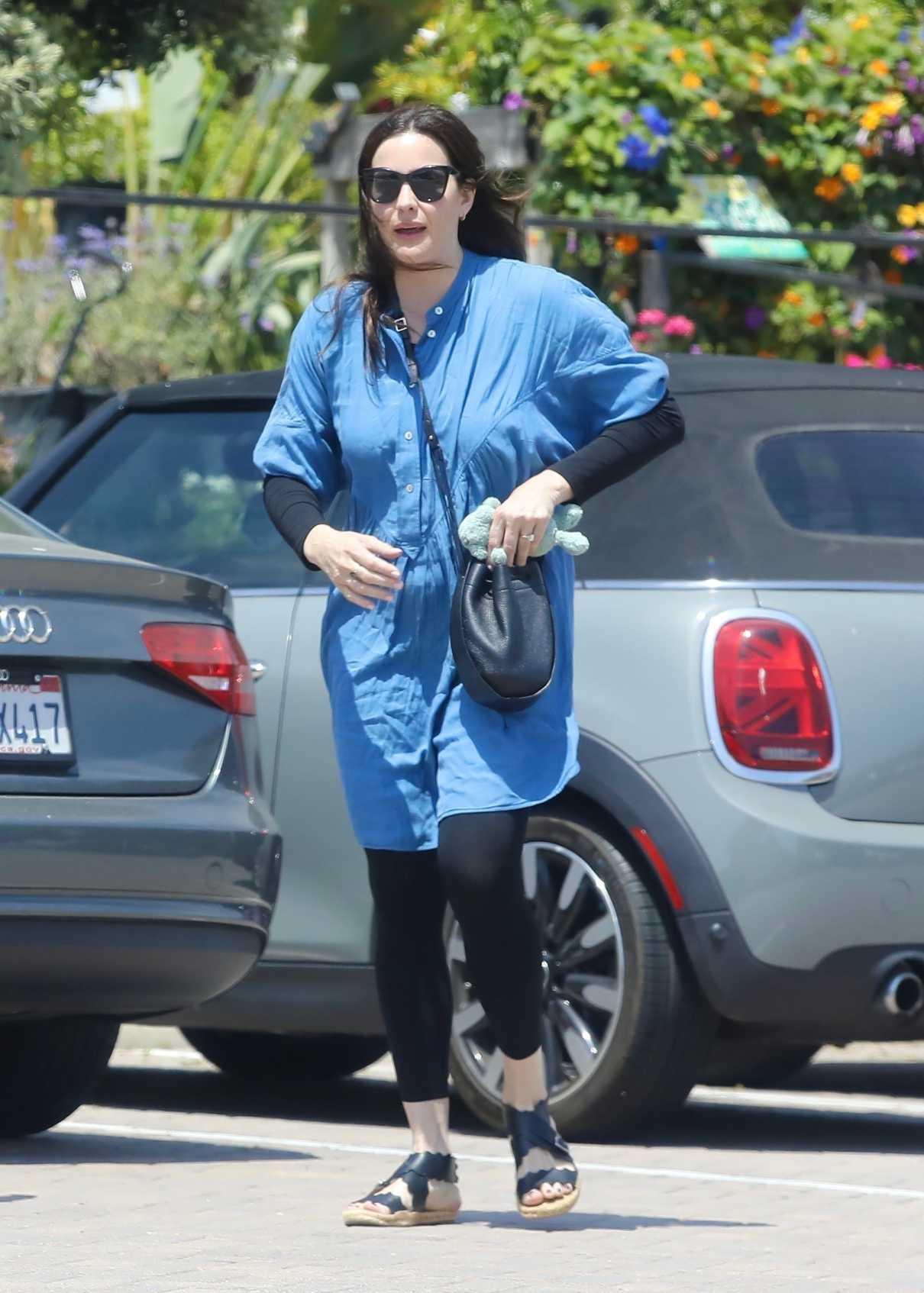 Liv Tyler in a Blue Dress