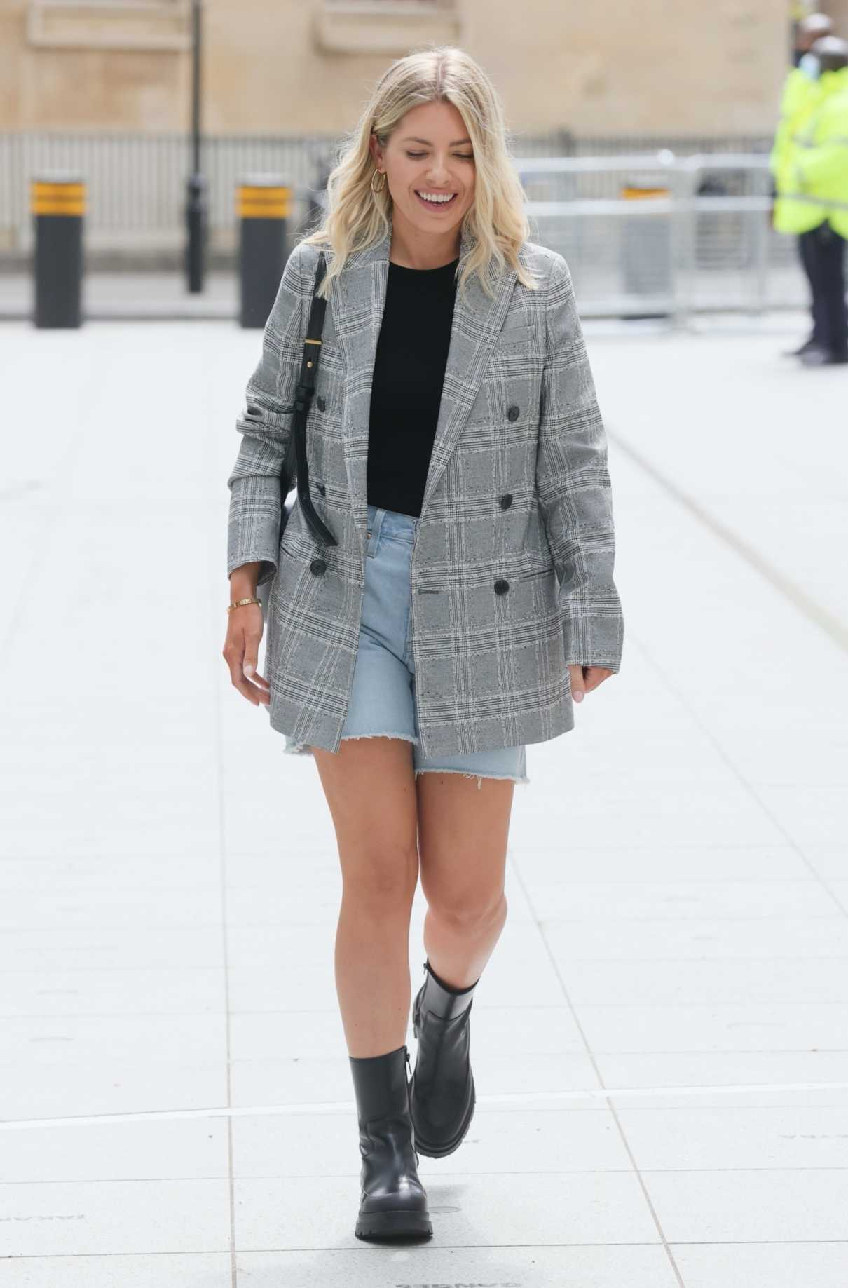 Mollie King in a Grey Blazer