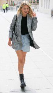 Mollie King in a Grey Blazer