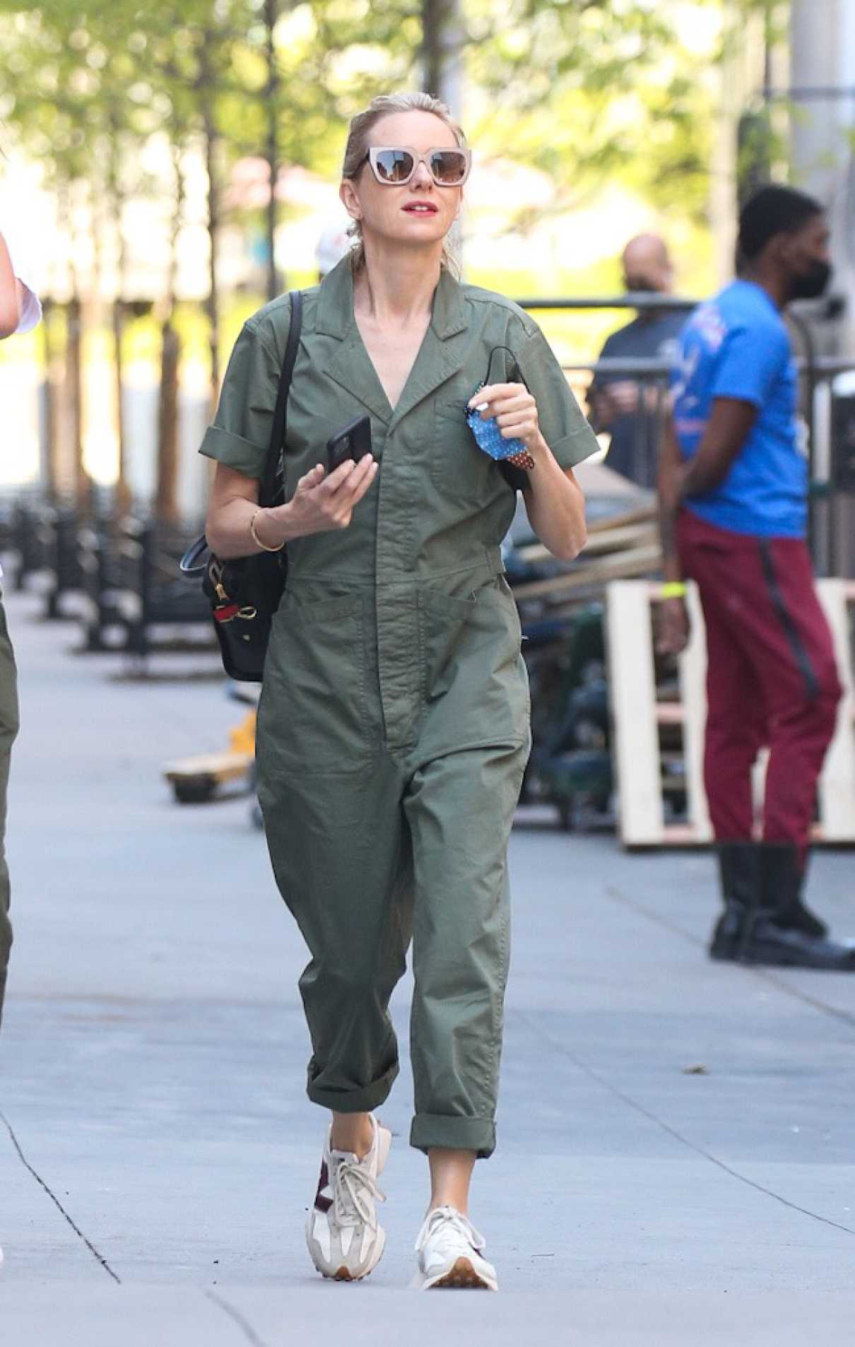Naomi Watts in an Olive Jumpsuit