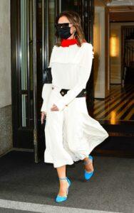 Victoria Beckham in a White Dress