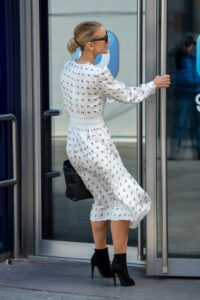 Vogue Williams in a White Dress