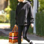 Zoey Deutch in a Black Hoodie Leaves a Pilates Studio in West Hollywood 05/03/2021