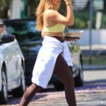 Addison Rae in a Yellow Sports Bra Leaves Her Workout Session in West Hollywood 06/15/2021