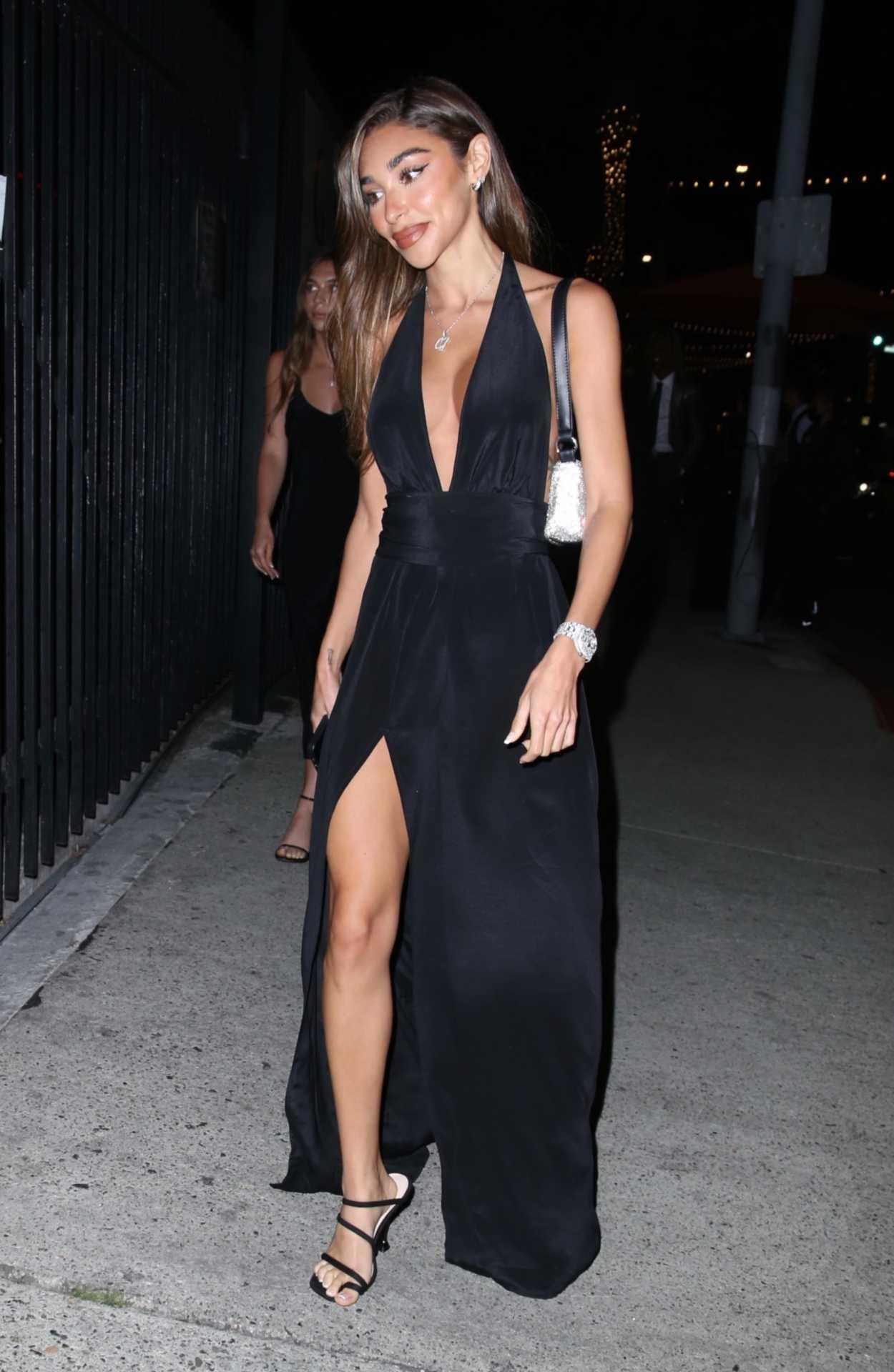 Chantel Jeffries in a Black Dress