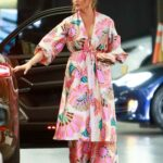 Chrissy Teigen in a Floral Cardigan Steps Out for Lunch at Soho House in Los Angeles 06/26/2021