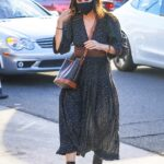 Courteney Cox in a Black Protective Mask Arrives at Giorgio Baldi for Dinner in Santa Monica 06/08/2021