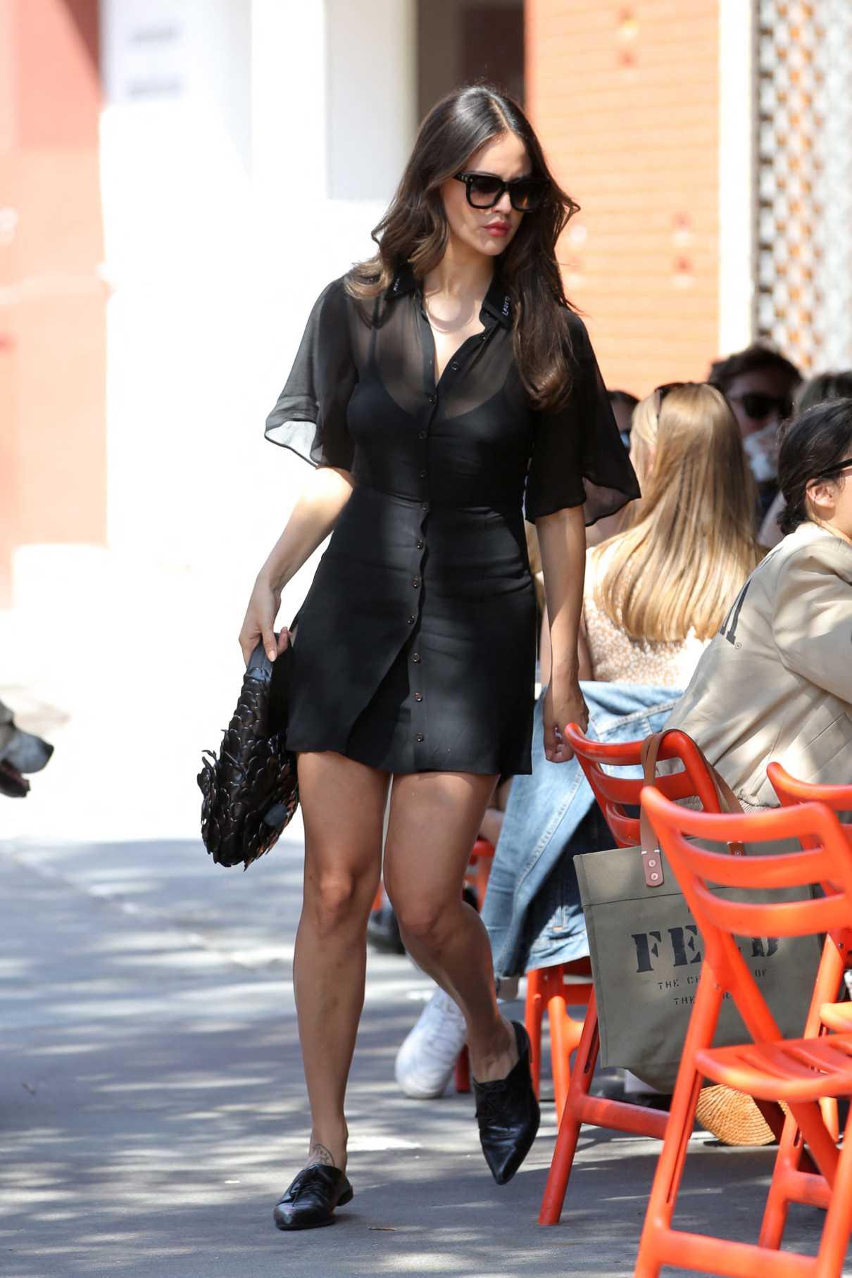 Eiza Gonzalez in a Black Mini Dress