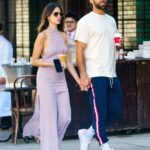 Eiza Gonzalez in a Purple Dress Was Seen Out with Paul Rabil in New York 06/21/2021