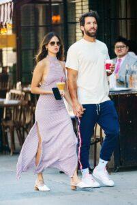 Eiza Gonzalez in a Purple Dress