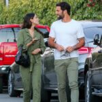 Eiza Gonzalez in an Olive Jumpsuit Out for Dinner in Venice Beach 06/09/2021