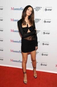 Emily Ratajkowski in a Black Dress