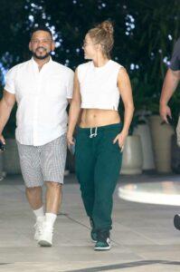 Jennifer Lopez in a White Top