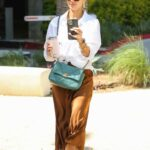 Jessica Alba in a White Shirt Was Seen Out in Los Angeles 06/24/2021