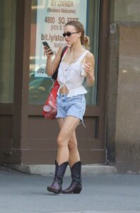 Lily-Rose Depp in a White Top