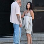 Megan Fox in a Beige Sports Bra Was Spotted Out with Machine Gun Kelly in Los Angeles 06/01/2021