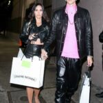 Megan Fox in a Black Leather Outfit Was Seen Out with Machine Gun Kelly in Hollywood 06/10/2021