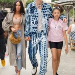 Megan Fox in a Tan Trench Coat Was Seen Out with Machine Gun Kelly in Venice Beach 06/19/2021
